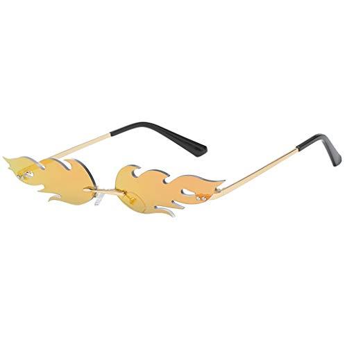 iNoDoZ Stylish Sunglasses for Women Men Fire Shape Glasses Party Club Fashion Eyewear Small ()