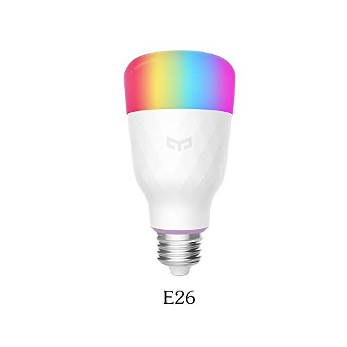 Onefa Smart LED Bulb, Multi Color RGB, Wi-Fi, Dimmable, 60W Equivalent(10W), E26/E27 Smartphone Controlled, Works with Amazon Echo Alexa,Google Home,Compatible with Alexa, 1-Pack (White)
