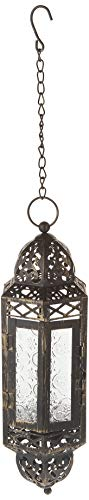 Zings & Thingz 57071042 Filigree Hanging Candle Lantern, Black ()