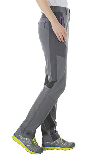 Makino Women's Lightweight Quick Dry Pants With Zipper Pocket For Hiking by