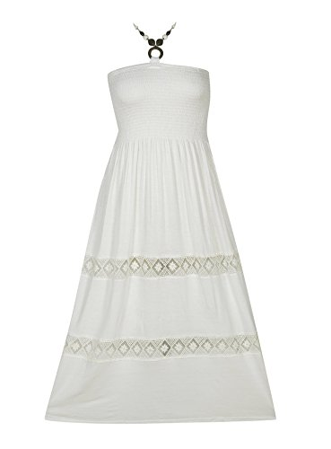 Plus Size White Way Maxi Dress --Size: 2x Color: White