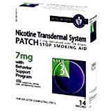 Novartis Nicotine Transdermal System Stop Smoking Aid Patch, Step 3, 7 mg - 14 ea