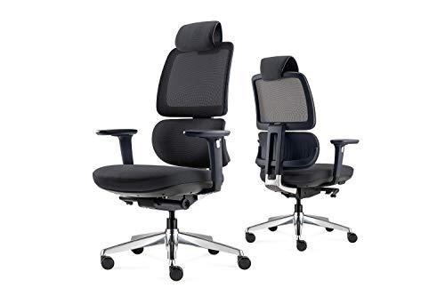 ALFA Furnishing Ergonomic Office Chair with Adjustable Headrest, Flip-Up Arms, Tilt Function, High Back Computer Desk…