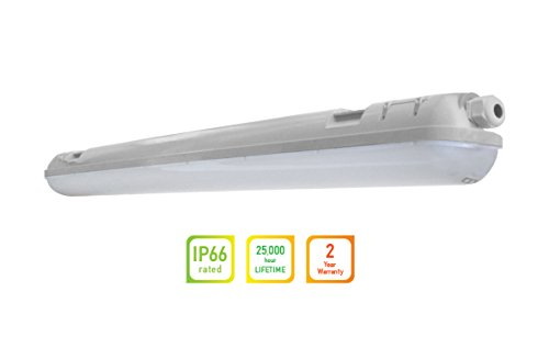 LLT LED Garage Vapor Proof Fixture 4ft 36W 5000K IP66 - Daylight
