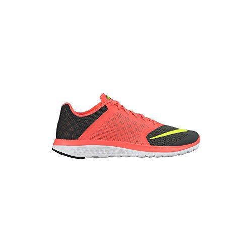 Nike FS LITE RUN 2 Zapatillas para Correr Running Negro Rojo para Hombre Anthracite/Hyper Orange/Volt