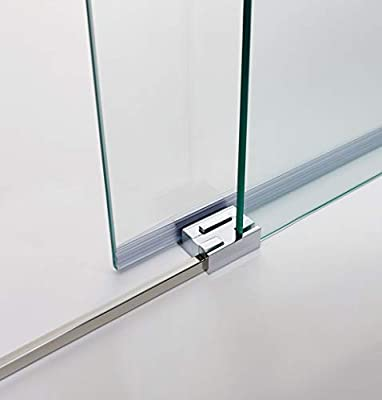Mampara de Ducha - GME - Basic angular al vértice Fija + Corredera con Lateral Fijo - Anti cal - Vidrios 6 mm (160x70, TRANSPARENTE): Amazon.es: Bricolaje y herramientas