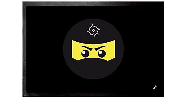 Amazon.com: Gaming Door Mat Floor Mat - Ninja Icon, Black ...