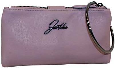 99c7d21b836ee Glüxklee XL Damen Geldbörse mit Handgelenk-Ring (Dirty Pink)  Amazon ...