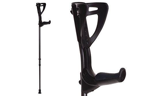 ErgoTech Lightweight Forearm Crutches By FDI (Size: 4'4-6'7) 1 Pair/2 Crutches Black ()