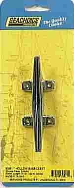 "Seachoice 30561 Hollow Base Cleat, 4-1/2"", Chrome Plated Zin"