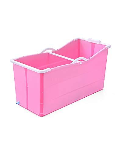 ower Japanese soaked PSA bathtub, plastic tub for adult size folding - Adult, elderly, children (Color : Pink) ()