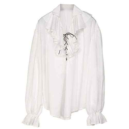 Ladies Pirate Shirt Ladies - White Costume For Buccaneer Fancy Dress]()