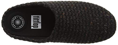 001 Noir Pantoufles Chrissie Black Knit Femme FitFlop wxCHOqBnn