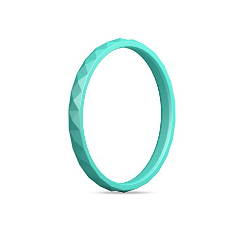 (Egnaro Silicone Wedding Ring for Women,Silicone Wedding Ring Thin-Silicone Stackable Rings, Wedding Bands-Diamond Pattern -Comfortable fit&Skin Safe)