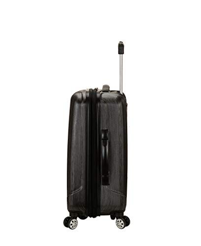 31U9Sg5PKPL - Rockland Luggage Melbourne 20 Inch Expandable Carry On, Metallic, One Size