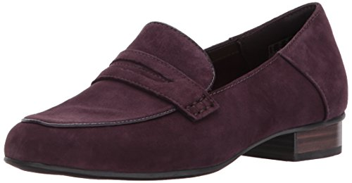 Clarks Women's Keesha Cora Penny Loafer, Aubergine Suede, 11 W US by CLARKS