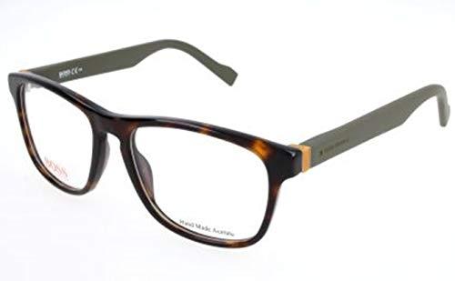 Hugo Boss Orange Rx Eyeglasses - 0180 0K8B - Havana Military Green (53/17/140) (Square Sonnenbrille)