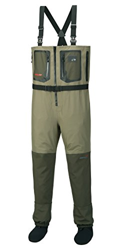 Aquaz Dryzip Chest Wader, Ash/Khaki, Medium