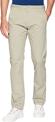 Calvin Klein Men's Dylan Soft Wash Straight Leg Chino Pant, Vintage Taupe, 32W X (Twill Chino Pants)