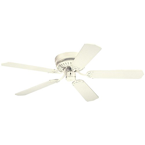 white ceiling fan no light - 6