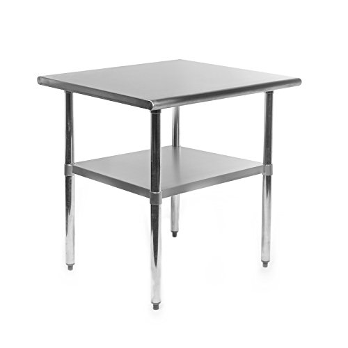 Gridmann NSF Stainless Steel Commercial Kitchen Prep & Work Table - 30 in. x 24 in. Commercial Stainless Steel Table