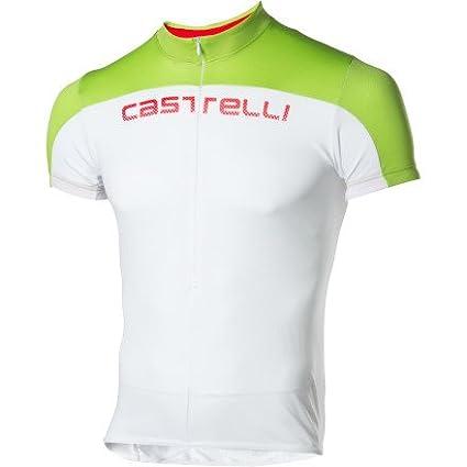 61e15dd06 Amazon.com   Castelli Prologo HD Short Sleeve Jersey White Acid ...