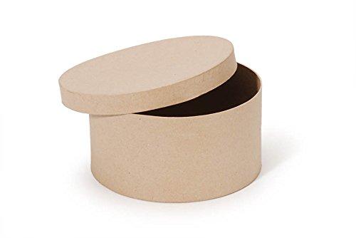 Paper Mache Box - Round - 8 x 4 in -