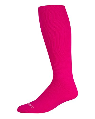 (Pro Feet Multi-Sport Cushioned Tube Socks Acrylic, Hot Pink, Medium 9-11)