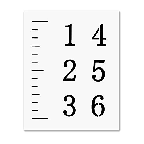Durable Stencil - LEKUSHA Create Your Own 6 Feet Growth Chart Ruler Stencil, 12 Mil Durable Reusable Height Chart Template, Great for Painting Kids Measuring Chart, Fit for 5 Inch Wide Wood Board(Mylar Material)