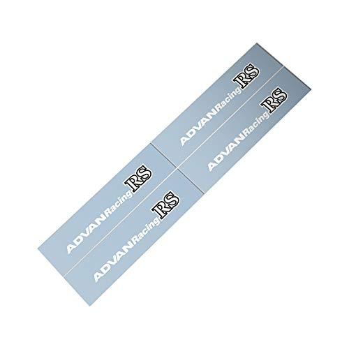 (Demupai for Advan Racing RS Car Wheels Sticker Decal (White Letter))