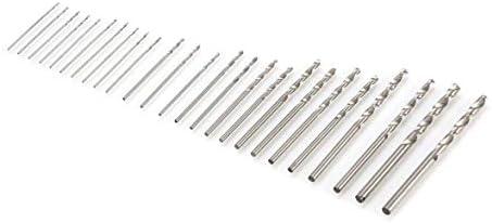 Tivollyff 25ピース高速度鋼HSSマイクロツイストドリルビットセット0.5 mm 3.0 mm穴溝ドリル大工木工ツールを見た
