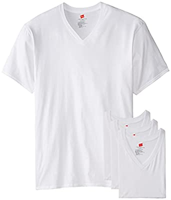Hanes men 39 s tall man v neck t shirt pack of 3 for Tall v neck t shirts