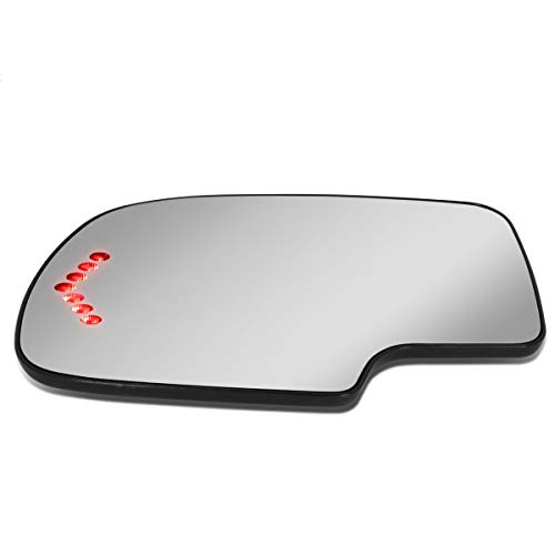2002 Left Door Mirror - DNA Motoring SMP-056-L Left/Driver Side Door Rear View Mirror Glass w/Heater+LED Turn Signal