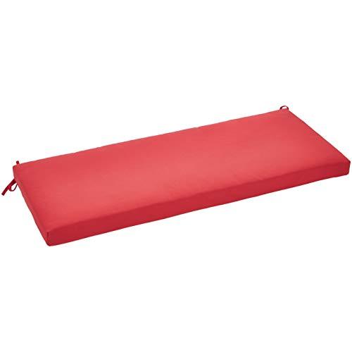 AmazonBasics Bench Patio Cushion – Poly Batting – Red