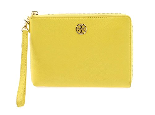 Tory Burch Landon Large Leather Wristlet 18169279 (Sunshine) by Tory Burch