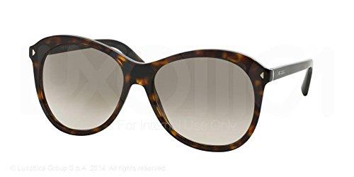 Prada W-SG-2932 PR 13RS 2AU3D0-Havana Womens Sunglasses, 57-16-140 - Prada Sunglasses Oversized Round