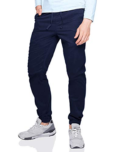 (Match Men's Loose Fit Chino Washed Jogger Pant (38, 6535 Navy blue))