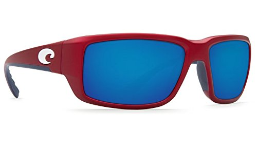 Costa Del Mar Fantail 580G Fantail, USA Red Blue Mirror, - Costa Blackfin 580g Mar Mirror Blue Del