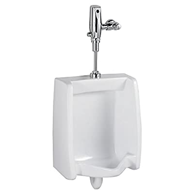 American Standard 6590001.020 Champion 4 3186128ST.020 Fully Glazed Flush Toilet, ADA, 1.28 gpf, Round Front, White Urinal, 26.13 x 18.88 x 14.13 inches