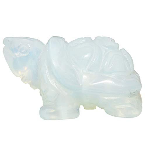 mookaitedecor Crystal Turtle Statue Sculpture Stone Healing Reiki Pocket Gemstone Figurines 1.5 Inch
