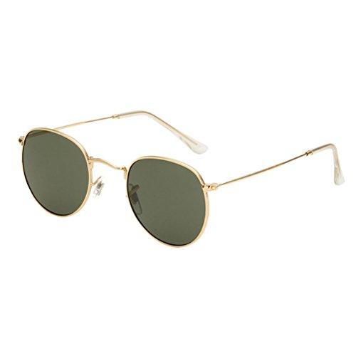 Sunglasses UV400 green Girls amp;Dark Round Vintage Buena Oversized Gold Calidad amp; Designer for Metal Women Zhuhaitf Ladies Case Sunglasses qHPRw
