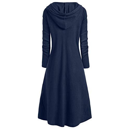 Manteaux Taille Gothique Femme H Overcoat V Vintage Col Outerwear Smoking Robe Lingerie De Longues Blouson À Bleu La Veste Et Manches Chejarity aqxPIwvgU