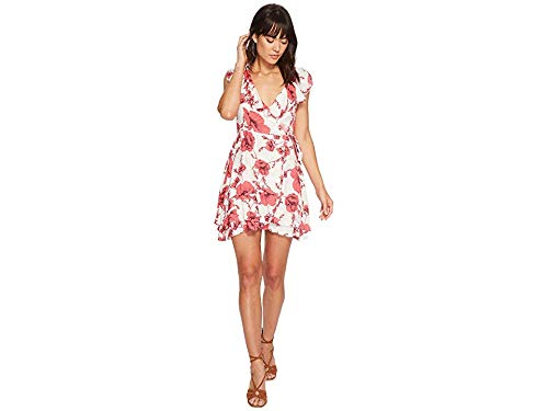 Free People Women's French Quarter Printed Mini Dress Ivory Medium (French Quarter-shops)