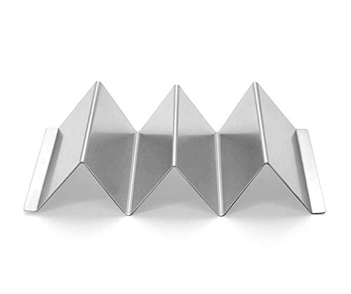 Taco Holder 4 Sets Stainless Steel Taco Stand Tray 8\