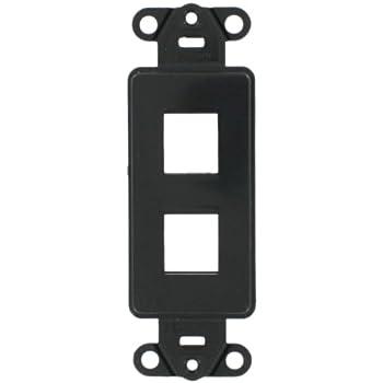 Leviton 41642 E Quickport Decora Insert 2 Port Black