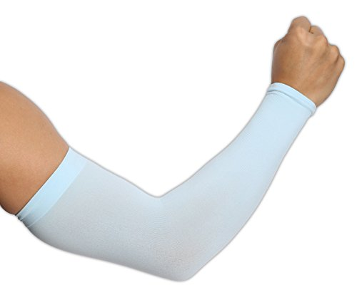 UV Protection Cooling Arm Sleeves – UPF 50 Long Sun Sleeves for Men & Women. Perfect for Cycling, Driving, Running, Basketball, Football & Outdoor Activities.