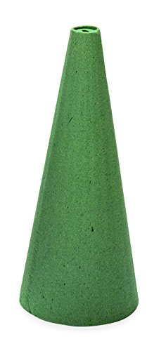 FloraCraft Wet Styrofoam Cone, 12 by 4-Inch (12 Inch Styrofoam Cone compare prices)