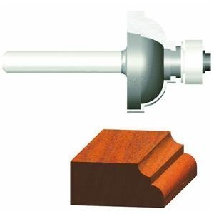 Cove 2 Flute - Vermont American 23142 3/16-Inch Radius Carbide Tipped Cove and Fillet Router Bit, 1/2-Inch Ball Bearing 2-Flute 1/4-Inch Shank by Vermont American