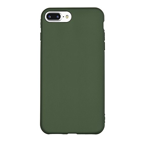 iPhone 7 Plus Case, Manleno iPhone 8 Plus Case Soft Flexible TPU Full Matte Cover Case for iPhone 7 plus/iPhone 8 plus 5.5 inch (Hunter Green)