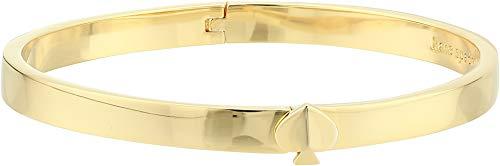 Kate Spade New York Women's Heritage Spade Thin Metal Spade Button Bangle Gold One Size